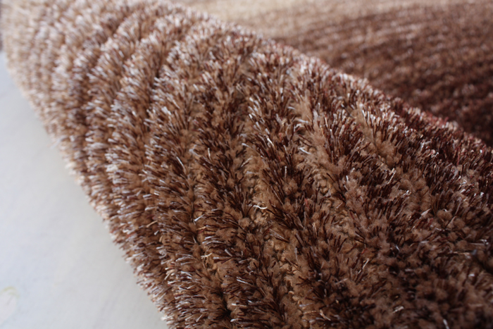 polyester design two mix yarn with loop brown beige