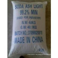 Luz de carbonato de sodio // Na2co3 / Luz de ceniza de sosa (99,2% min)