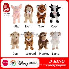Brinquedos de pelúcia fantoche brinquedo animais macios atacado