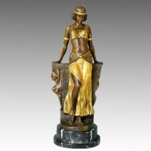 Danse Statue Égypte Danse Gilr Bronze Sculpture, Milo TPE-150 (J) / 673