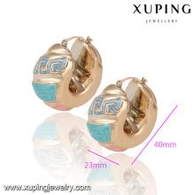 92131 promoção mulheres de alta qualidade jóias liga de cobre banhado a ouro brincos de argola