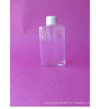 100ml Flat Rectangle Clear Pet Flasche mit Schraubverschluss