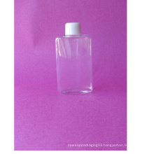 100ml Flat Rectangle Clear Pet Bottle with Screw Cap