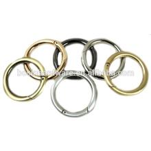 Moda de alta qualidade de metal bolsa redonda anel carabiner