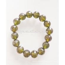 10mm grünes Zirkon Perlen Armband