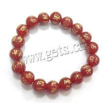 Pulsera budista de Gets.com, pulsera budista de ágata roja