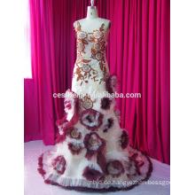 Reale Probe neue Art- und Weiseweinlese, die Spitze-volle Hülsen moslemisches Hochzeits-Kleid bördelt