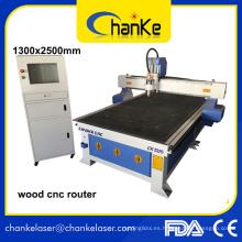 Ck1325 Acrílico MDF Alumnium Madera CNC Router para Gabinete Artesanía de madera de la puerta