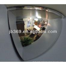 Espelho da abóbada de 1/4 de 40cm, espelho acrílico da abóbada da segurança de 90 graus