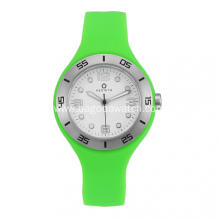 Stainless steel green silicone watches for women