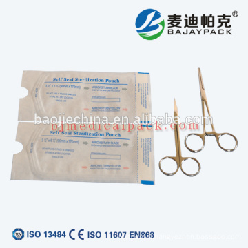 Medical Syringe Disposable Self Sealing Paper Plastic Pouch