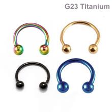Preço de fábrica ASTM F136 Titanium Barbell Circular Barbell Ferradura Do Corpo