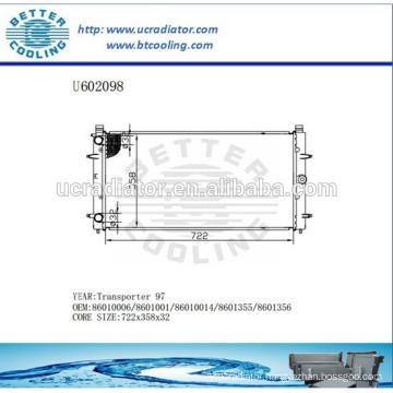 Aluminum Radiator For VOLKSWAGEN Transporter 97 86010006/8601001/86010014/8601355/8601356