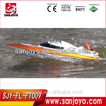 rc fishing boats High speed racing boat FT009 hobby model 4CH yacht 30km/h 2.4g rc speed boats for sale (water cooling system)