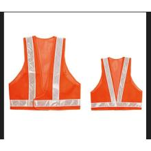 High Visibility Safety Vest Made of Mesh Fabric