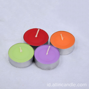 Lilin Parafin Tealight Candle dengan Aluminium Holder