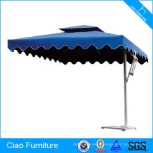 Cadre en aluminium avec le parapluie de poteau latéral de tente de plage de marbre