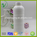 OEM diseño HDPE redondo vacío plástico botella de productos químicos
