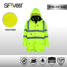 3 in 1 Safety Jumpsuit work 100% polyester lightweight waterproof jacket