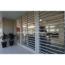 Seamless Burglar Proof Aluminium Tempered Glass Louver Window