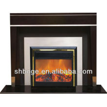 ready-made good quality MDF electric fireplace heater mantle