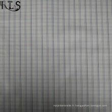 Le tissu tissé de fil de popeline de coton a teint pour des chemises / vêtements habillées Rls40-48po