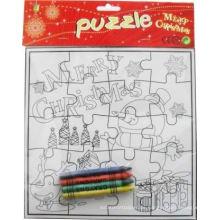 Raster färben mich Weihnachten festlich Papier Puzzle
