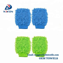 China Supplier 100% Microfiber Scratch-Free Wash Mitt Ultra Soft Cleaning Glove for Car