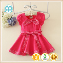 1-5years baby girls fashion nice dress alibaba supplier wholesale small kids dresses bow botted dresses