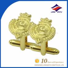 Novo tipo de abotoaduras de ouro personalizadas por fornecedor de abotoaduras confiável