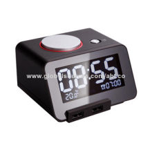 white Alarm Clock,with Dual-USB Charging Chargers,3.2inch LCD DisplayNew