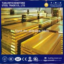 Decoração da telhadura de 1mm usado folha de latão / placa de bronze preço por kg
