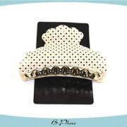 Polka dot plastic decorative hair accessory hair claw
