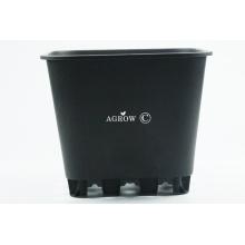 Square Black Plastic Plant Pots