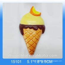 Summer decor ceramic refrigerator magnet with icecream design