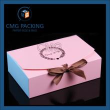 Логотип печатной розовой коробочки с тортиком (коробка CMG-cake-024)