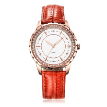 Four Colors Genuine Leather Womens Wristwatch