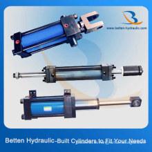 Cilindro hidráulico de varilla de acoplamiento Cilindro hidráulico de actuación simple de doble efecto