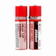 USB Socket NiMH Rechargeable Batteries