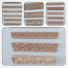 elegantes Design, das Holzformteile schnitzt