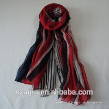 Moda nova mulheres viscose stripe longo cachecol / xaile