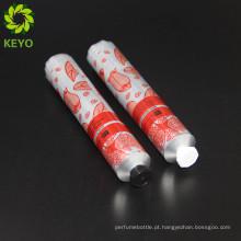 Tampas de parafuso de tubo de metal de alumínio macio tubo de tela cosmética