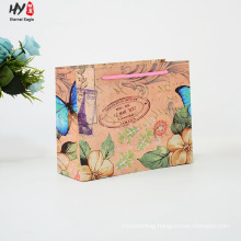Newest retro fashion brown paper gift bag