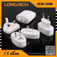Universal travel adaptor plug with 2 usb,quality suppliers 4 in 1 travel plug