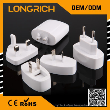 CE,ROHS Approved travel voltage converter,ODM/OEM quick deliver portable worldwide adapter
