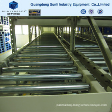 Cold-Formed Roller Storage Pallet Load Gravity Rack