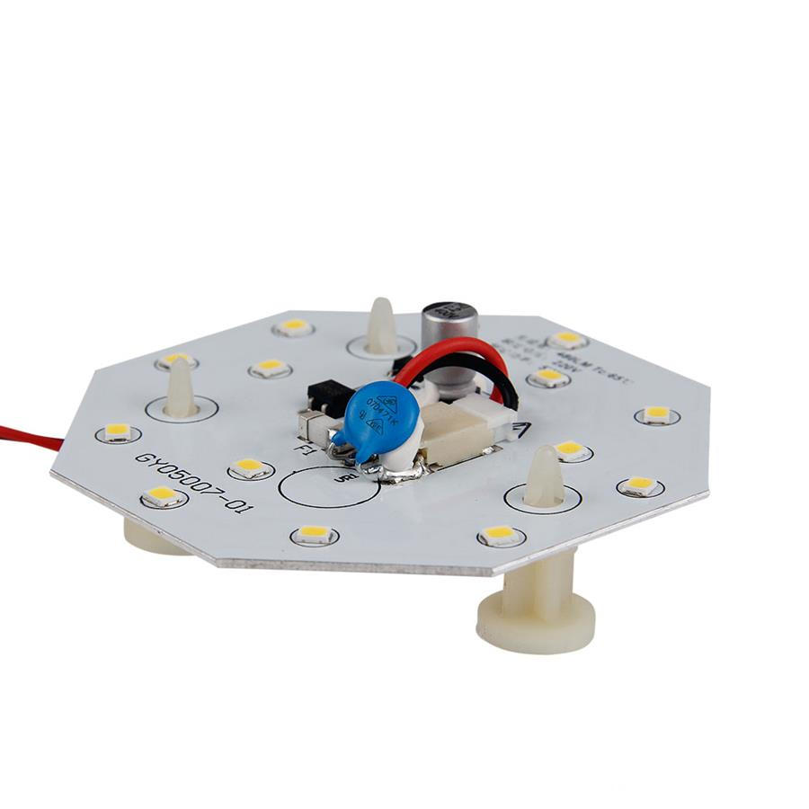 Warm light 5w led bulb dob module lighting bottom view