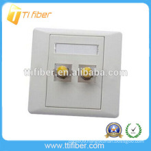 High quality two ports ST fiber optic faceplate