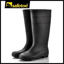 Botas de goma, botas de lluvia alta lluvia, botas de lluvia de PVC W-6036