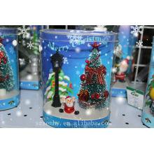 ¡CALIENTE! Árboles de caja de Navidad de fibra óptica de Santa Claus